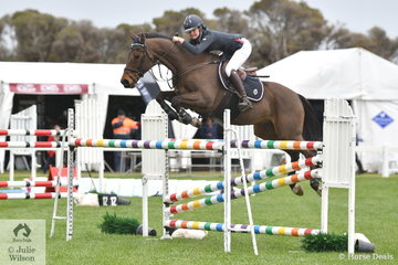 Chloe Dennison rode her well performed Fosbury Flop in the ISJ Victoria Young Rider Championship Round 2.