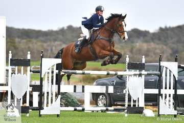 Tori Fair jumped a good round aboard Ramirus in the ISJ Victoria Young Rider Championship Round 2, but unfortunately had the last fence down.