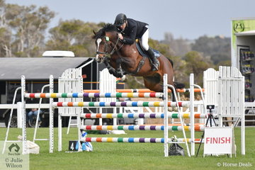 Wesley Joyce riding his stallion Oaks Volta took third place in the Hygain Stars of the Future Round 2.