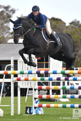 Brooke Langbecker riding her seven year old imp stallion, Black Jack Ixe just had four faults in the Hygain Stars of the Future Round 2. Brooke has only had the two new stallions for a month and hopefully they are both Stars of the Future.