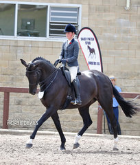 "Winner of the Owner Rider Large Show Hunter Hack class ""Divinia"" and Kaitlin Martin."