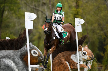 Sarah Ennis of Ireland on Horseware Stellor Rebound in for a bronze medal in Eventing at the FEI World Equestrian Games... Tryon USA 15/9/18.PhotoFEI/Martin Dokoupil