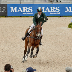 FEI World Equestrian Games... Tryon USA Individual silver medalist Padraig McCarthy on Mr Chunky.Photo FEI/Liz Gregg