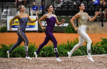 FEI World Equestrian Games... Tryon USA Vauting, Katharina Luschin, Daniela Fritz and Lisa Wild of Austria.Photo