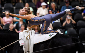 FEI World Equestrian Games... Tryon USA Katharina Luschin of Austria on Fairytale .Photo FEI/Martin Dokoupil