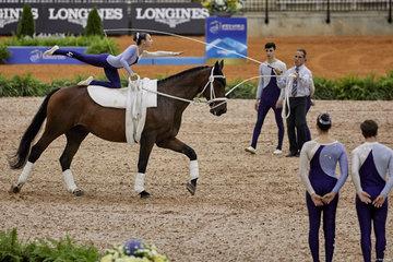 FEI World Equestrian Games... Tryon USA Vaulting squad compulsory test Argentina.Photo FEI/Liz Gregg