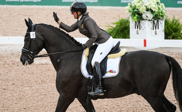 FEI World Equestrian Games... Tryon USA Para Dressage Manon Clayes of Belgium on San Dior 2 .Photo FEI/Martin Dokoupil