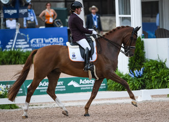 FEI World Equestrian Games... Tryon USA Para Dressage Sanne Voets of the Netherlands on Demantur N.O.P..Photo FEI/Martin Dokoupil