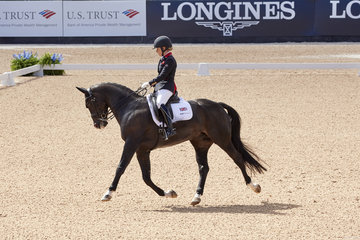 FEI World Equestrian Games...; GB; Grade 2; Individual Championship; Paradressage; Sophie Wells GBR on C Fatal Attraction.Photo FEI/Liz Gregg