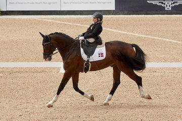 Stinna Tange Kaastrup on Horsebo Smarties DEN.Photo FEI/Liz Gregg