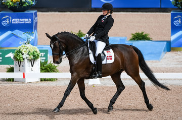 FEI World Equestrian Games... Tryon USA Para Dressage Susanne Jensby Sunesen of Denmark on CSK's Que Faire.Photo FEI/Martin Dokoupil