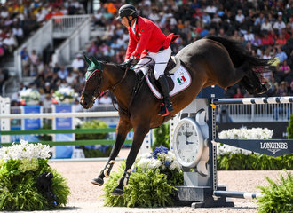 FEI World Equestrian Games... Tryon USA Enrique Gonzales of Mexico on Chaqna.Photo FEI/Martin Dokoupil