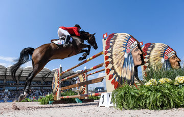 FEI World Equestrian Games... Tryon USA Mario Deslauriers of Canada on Bardolina 2.Photo FEI/Martin Dokoupil