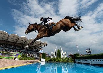 FEI World Equestrian Games... Tryon USA Malin Baryard-Johnsson of Sweden on H&M Indiana.Photo FEI/Martin Dokoupil