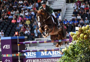 FEI World Equestrian Games... Tryon USA Pedro Veniss of Brazil on Quabri de l'Isle.Photo FEI/Martin Dokoupil