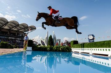 FEI World Equestrian Games... Tryon USA Steve Guerdat of Switzerland on Bianca.Photo FEI/Martin Dokoupil