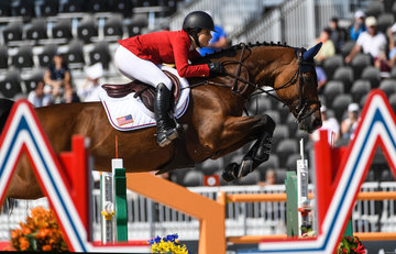 FEI World Equestrian Games... Tryon USA Adrienne Sternlicht of the United States on Cristalline.Photo FEI/Martin Dokoupil