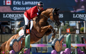 FEI World Equestrian Games... Tryon USA Eric Lamaze of Canada on Chacco Kid .Photo FEI/Martin Dokoupil