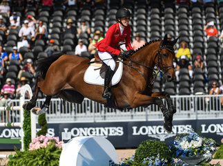 FEI World Equestrian Games... Tryon USA Laura Klaphake of Germany on Catch Me If You Can OLD.Photo FEI/Martin Dokoupil