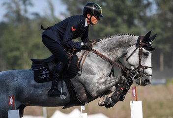 FEI World Equestrian Games... Tryon USA Lorenzo de Luca of Italy on Irenice Horta.Photo FEI/Martin Dokoupil