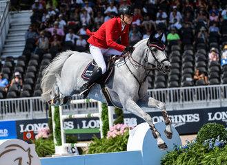 FEI World Equestrian Games... Tryon USA Max Kuhner of Austria on Chardonnay.Photo FEI/Martin Dokoupil