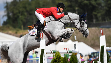 FEI World Equestrian Games... Tryon USA McLain Ward of the United States on Clinta.Photo FEI/Martin Dokoupil