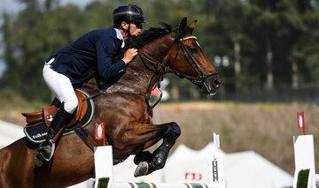 FEI World Equestrian Games... Tryon USA Peder Fredricson of Sweden on H&M Christian K.Photo FEI/Martin Dokoupil