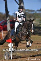 "Winner of the Grade 5 Section 2 Freya Dewhurst representing Merricks Pony Club riding ""Aroyn Star"""