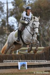 """Georgia Murdoch representing Barwon Valley Pony Club riding """"Lethview Silver Kitten"""" in the Grade 4 Section 5"""