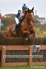 "Briony Deeker-Fradd representing Ballarat riding ""Stephan B"" in the Grade 1"