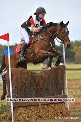 "Lara Sherar representing Donvale & Templestowe Pony Club riding ""Clovelly Lady Montana"" in the Grade 1"