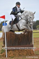 """Second place in the Grade 1 went to Elisa HArvey representing Yarrambat Pony Club riding """"Evergem Perfection"""""""
