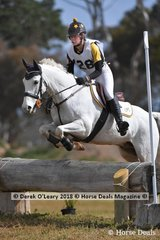 "Jasmin Walters representing Langwarrin Pony Club in the Grade 3 Section 2 riding ""Warrenwood Signature"""