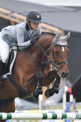 Erin Buswell jumped a very nice clear round aboard Quero Quero, for seventh place in the Group B One Round contest.