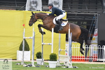 Paul Brent riding Cavalli Park Aliyah jumped a clear round in the Group B One Round contest, for eighth place.
