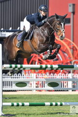 Lucie Aldridge rode  Ollie Olae to eighth place in the Young Rider contest.