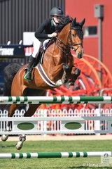 Caitlin Clarke rode a nice round on Wyuna Park Stella in the Young Rider contest for sixth place.