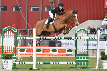 The young riders certainly dominated Prince of Wales Cup today. Sixteen year old Madeline Sinderberry jumped clear and twelve for sixth place aboard Oaks Kosmo.
