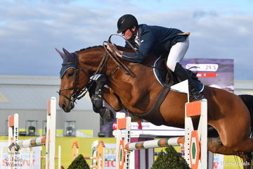 West Gippsland dairy farmer, Andrew Lamb jumped clear and four riding CP Argento, for fourth place in the Prince of Wales Cup.