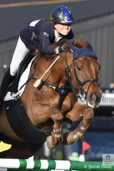 Seventeen year old Jasmine Dennison rode Nicolossi to post a clear and then four fault round, to take fifth place in the Prince of Wales Cup.
