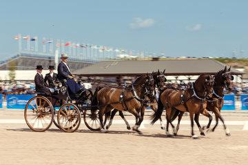 FEI World Equestrian Games... Tryon USA Carriage 1906.Christoph Sandmann.1906A Amico / 1906B Bo Liberator./ 1906C Fredie U./ 1906D Wanita.Photo FEI/Christophe Tani..re