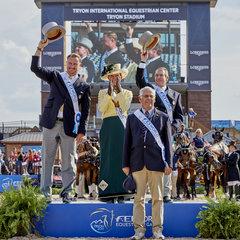 FEI World Equestrian Games... Tryon USA Driving Team USA.Photo FEI/Liz Gregg