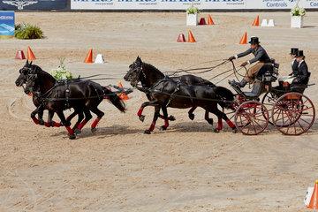 FEI World Equestrian Games... Tryon USA Driving Cones Edouard Simonet BEL.Photo FEI/Liz Gregg