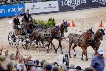 FEI World Equestrian Games... Tryon USA Driving Cones Koos De Ronde NL.Photo FEI/Liz Gregg