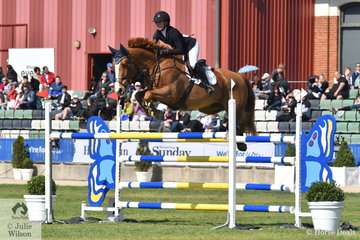 Talented teenager, Madeline Sinderberry rode her Oaks Kosmo to sixth place in the tough Group B jumping contest. Interestingly Oaks Kosmo is a full brother to Jamie kermonds Yandoo Oaks Constellation, that did so well at WEG.