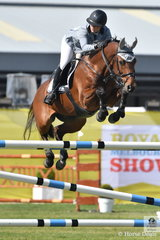 Queensland University student, Erin Buswell just had the last down riding her imported Quero Quero, in the Group B jumping contest.