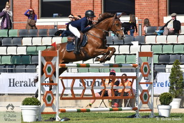 Laura Sloey and Copabella Cashmir out paced the tough opposition to win the Group B jumping contest.