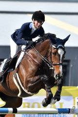 Queensland rider Kirstie Ansell rode her Talara Cassiko in the Group B jumping contest. Tomorrow is the last day of showjumping and Group A and B riders have had to make the decision to jump either in the Mini Prix or the World Cup.