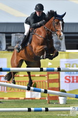 Talented rider, Emma Smith rode John Winning's, Yandoo Minneapolis in the Group B jumping contest.