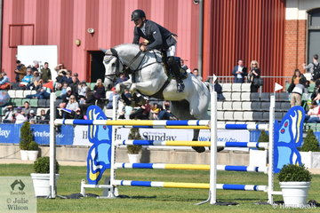 Stuart Jenkins from Queensland rode David Dobson and Alice Cameron's, Concorde Ego Z to third place in the Group B jumping contest.